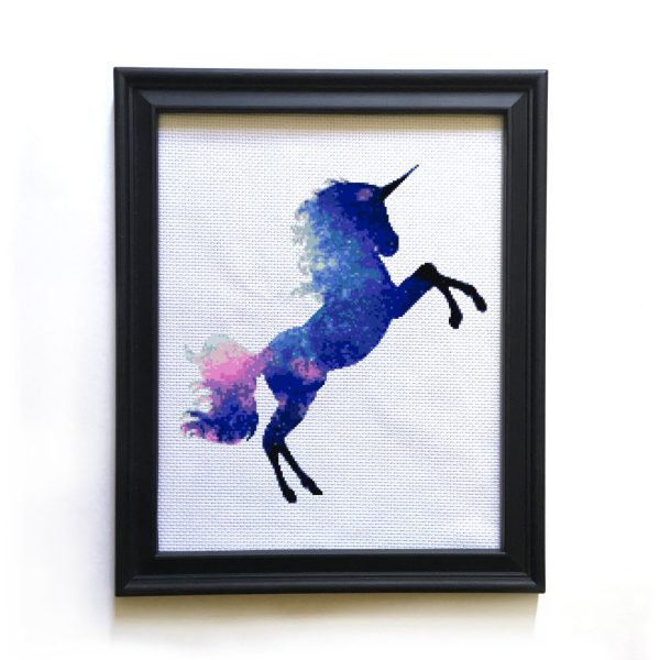 unicorn cross stitch pattern, unicorn cross stitch kit