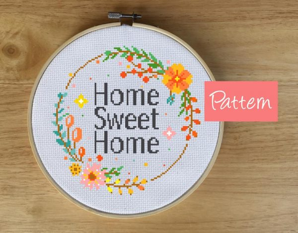 Home Sweet Home Cross Stitch Pattern by Leia Patterns