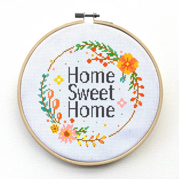 Flower Wreath Cross Stitch
