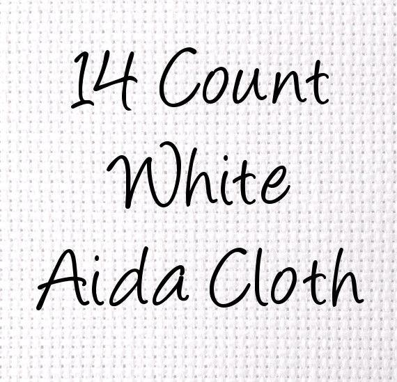 14 count aida white cross stitch cloth