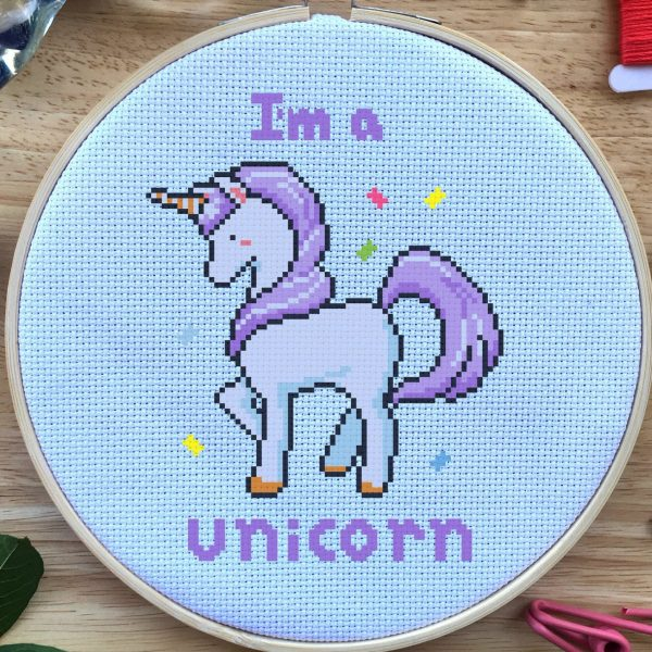 unicorn geeky cross stitch pattern happy cross stitch