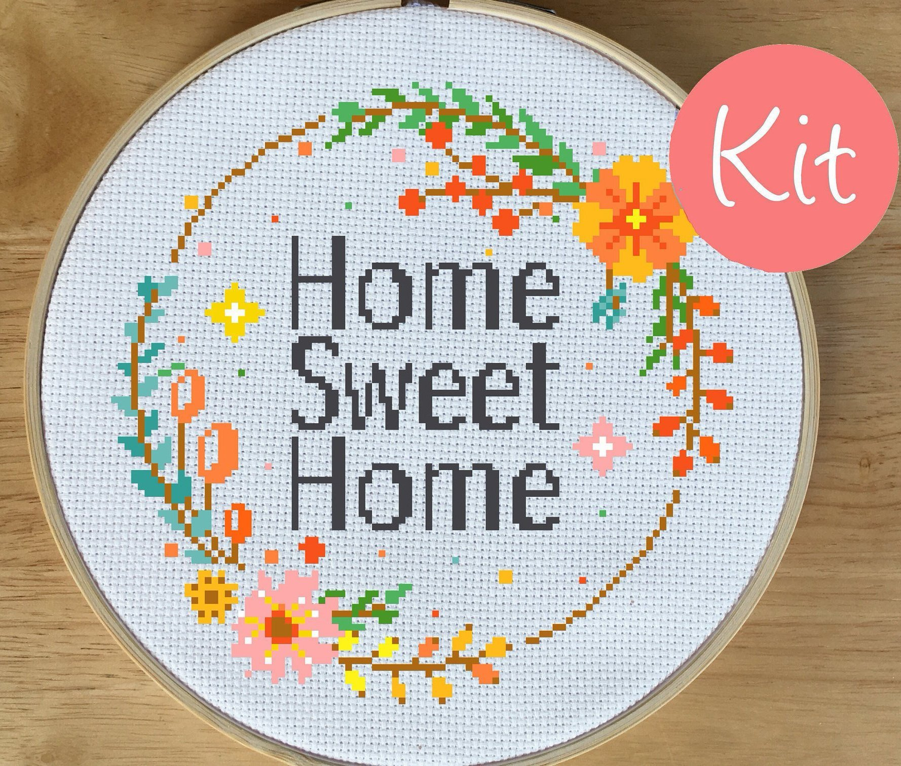 home sweet home cross stitch kit leia patterns