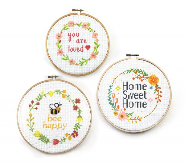 pattern-set-home-sweet-loved-bee-happy