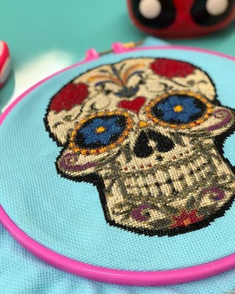 Sugar Skull Cross Stitch Pattern by Happy Cross Stitch