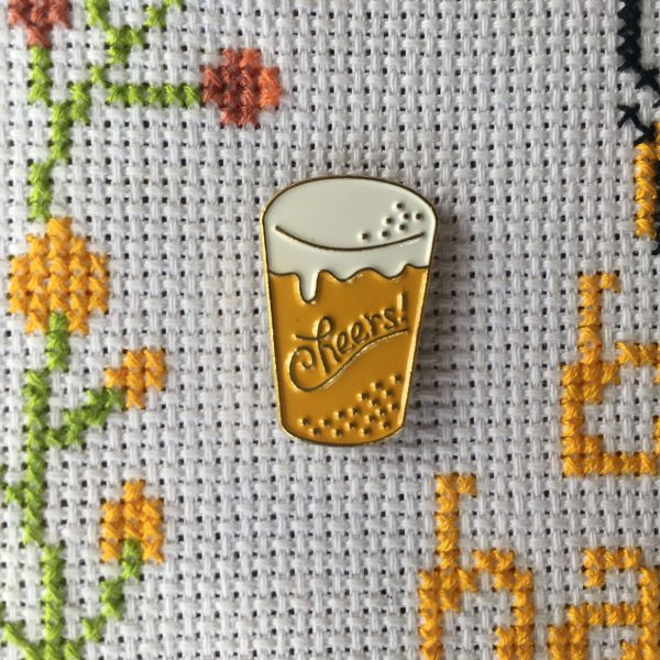 Needle Minder - Cheers! Alcohol Beer Funny Needle Magnet - Cross Stitch - Embroidery