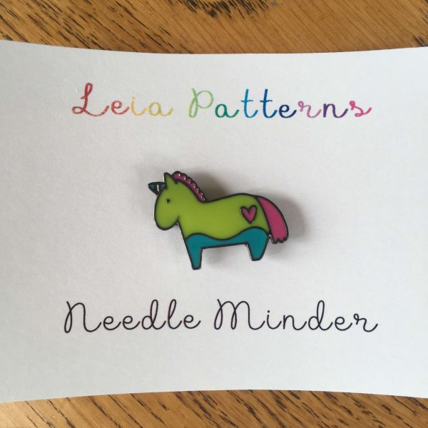unicorn needle minder, needle magnet, leia patterns, horse, heart