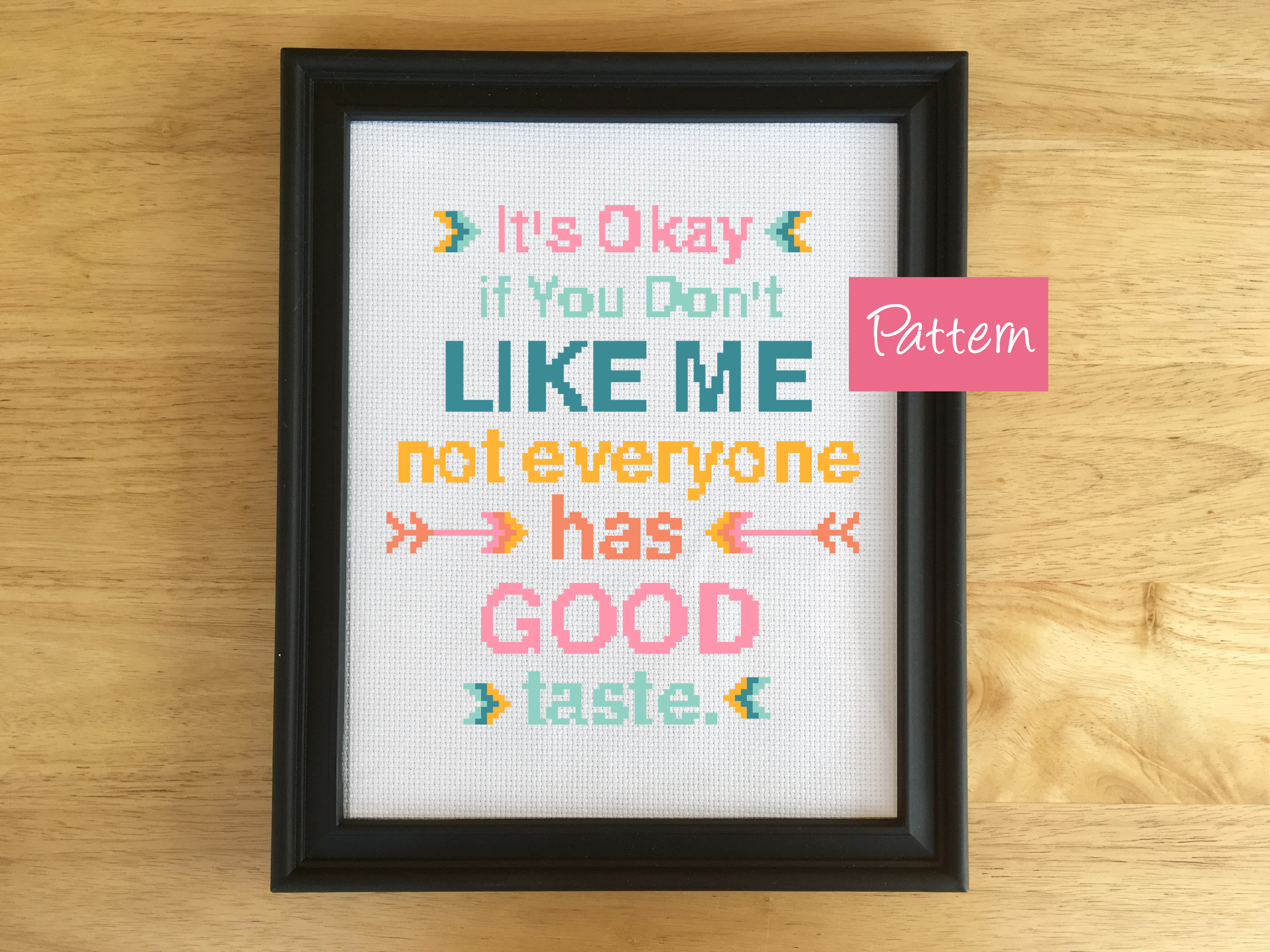 Subversive Cross Stitch Kit Quote Boho Sassy Leia Patterns
