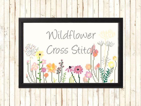 Wildflower Cross Stitch Pattern - Boho Flowers